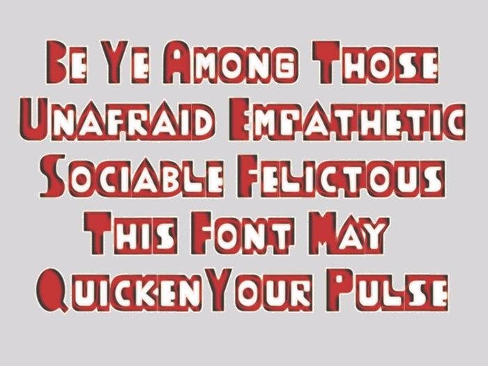 ThudThunk Font poster
