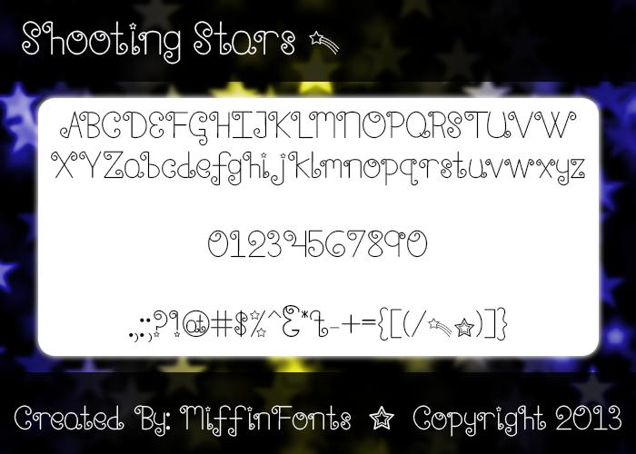 Shooting Stars Font poster