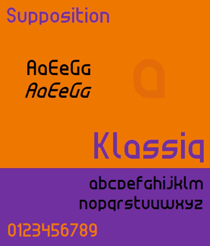 Klassiq NBP Font poster