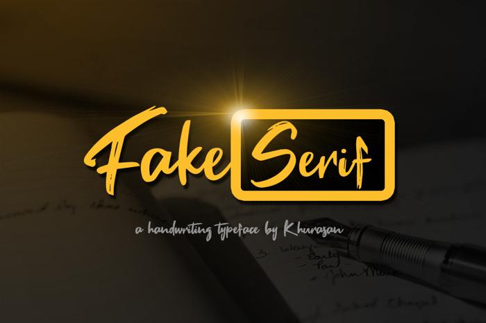 Fake Serif Font poster