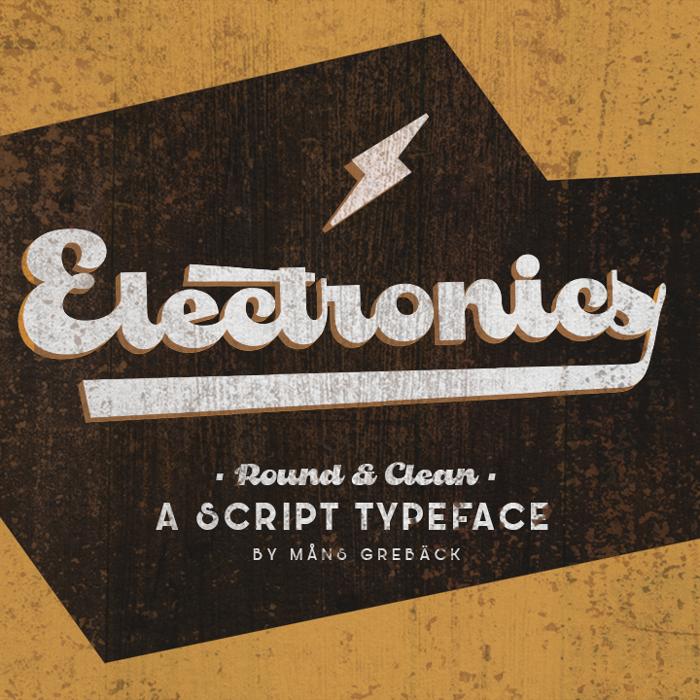 Electronics Font poster