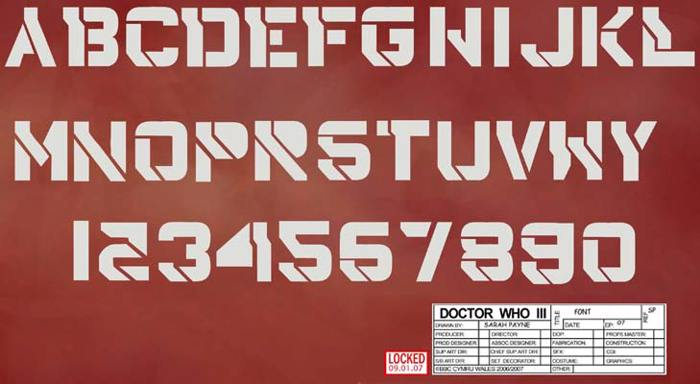 DrWho42 Font poster