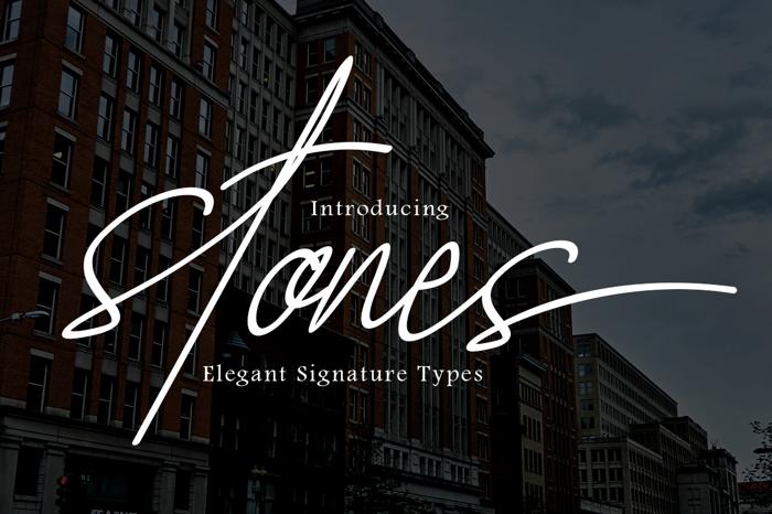 Stones Signature Font poster