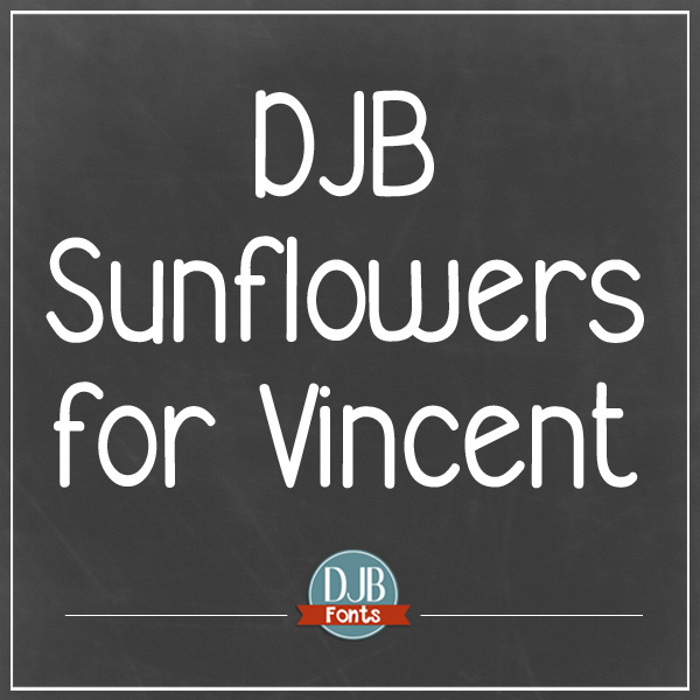 DJB Sunflowers for Vincent Font poster