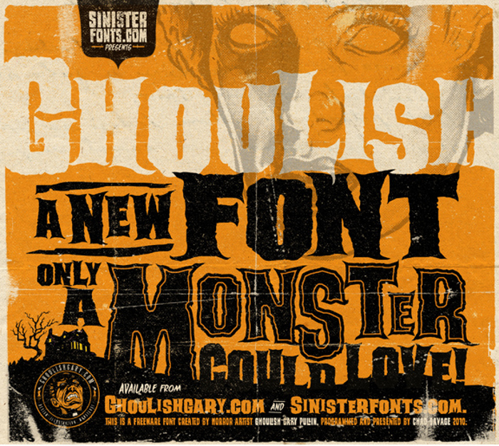 Ghoulish Font poster