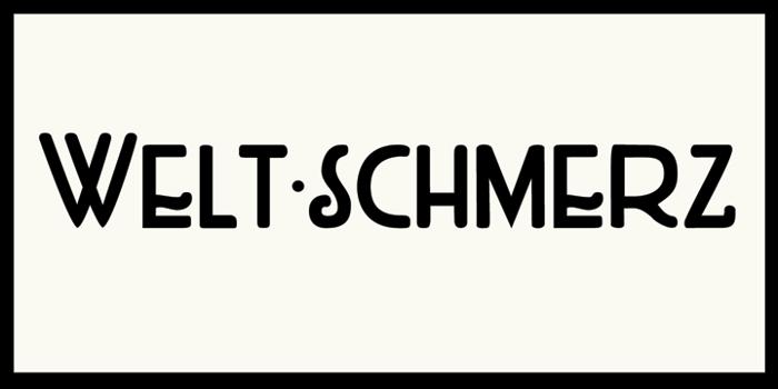 DK Weltschmerz Font poster