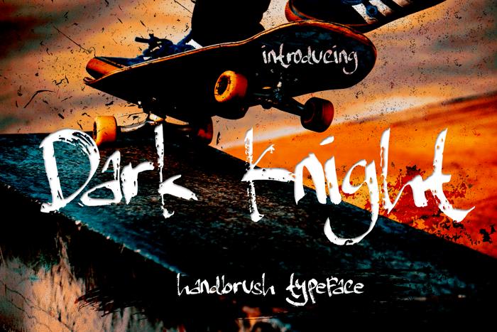 Dark Knight Font poster