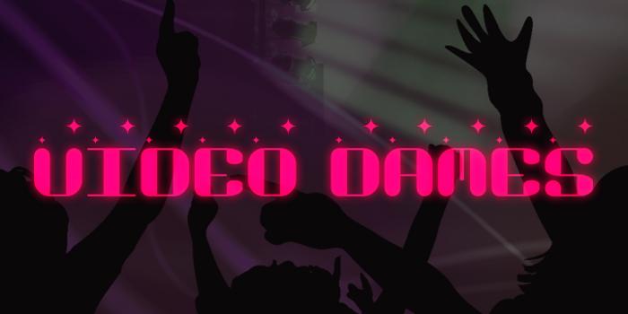 Video Dames Font poster