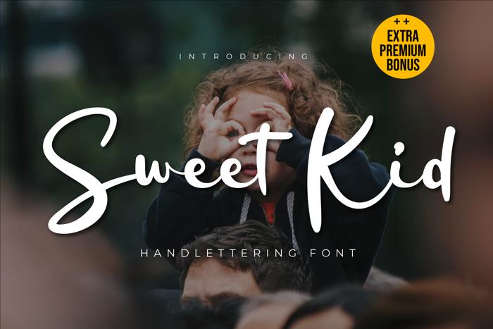 Sweet Kid Font poster
