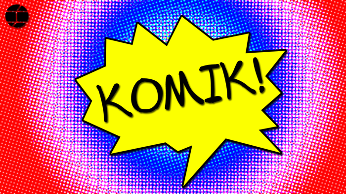 Komik Font poster