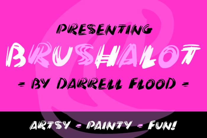Brushalot Font poster