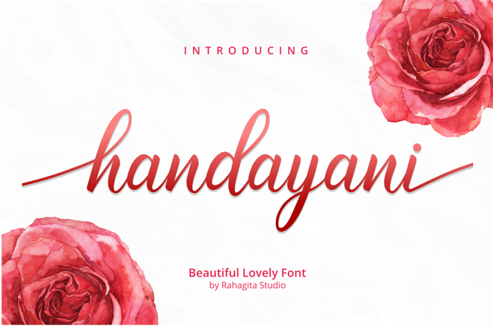 handayani Font poster