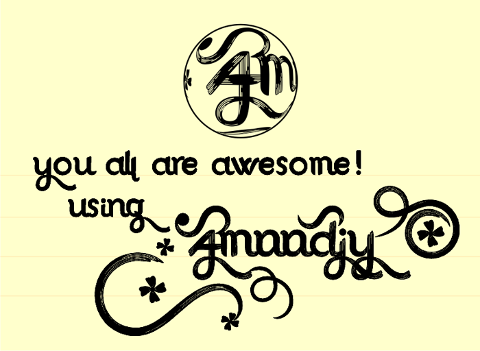 Amoodjy Font poster