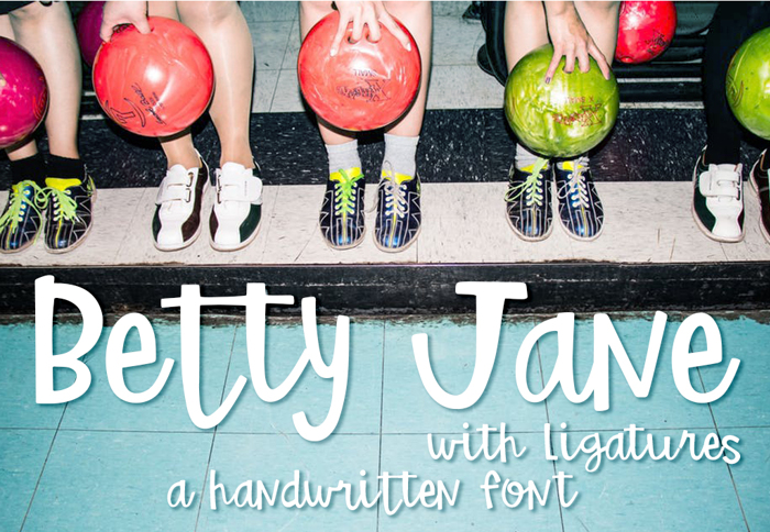 Betty Jane Light Font poster