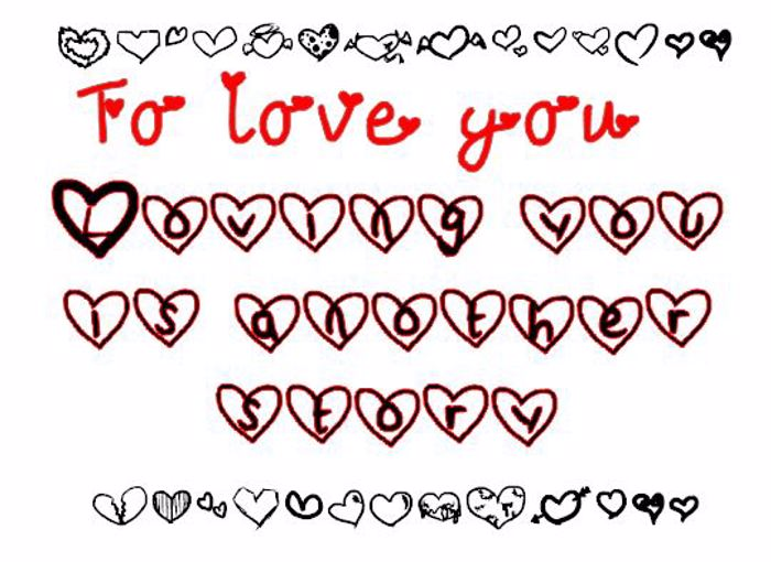 To love you. Font poster
