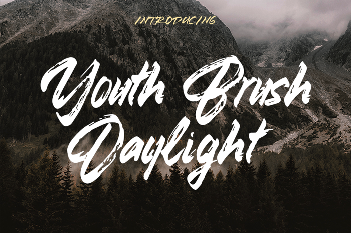 Youth Brush Daylight Font poster