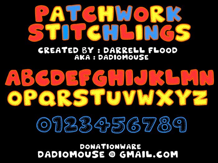 Patchwork Stitchlings Font poster
