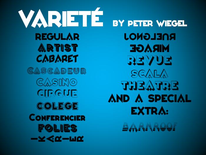 Varieté Font poster