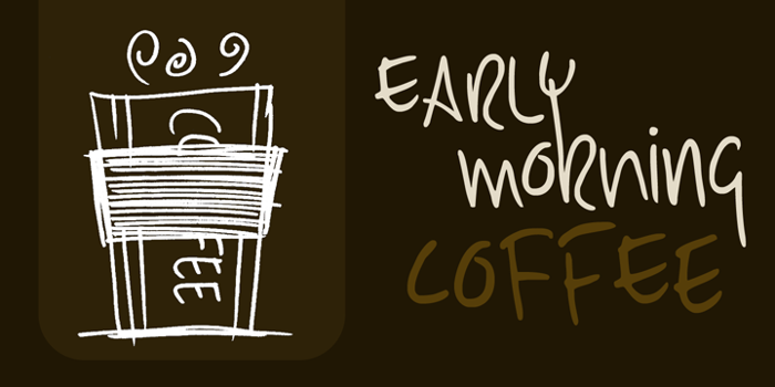 DK Early Morning Coffee Font poster