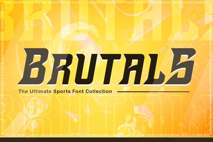 Brutals Font poster