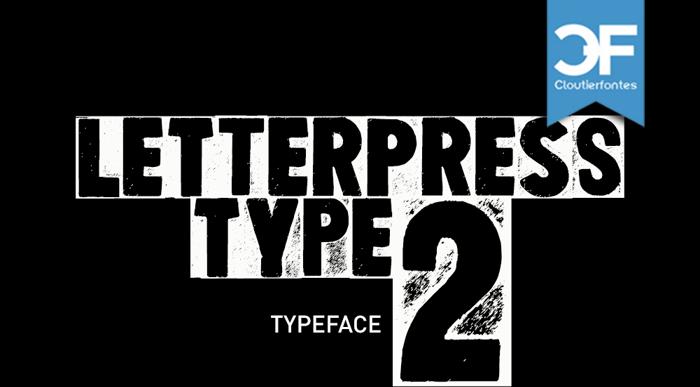 Letterpress Type Two Font poster