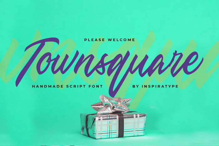 Townsquare Font poster