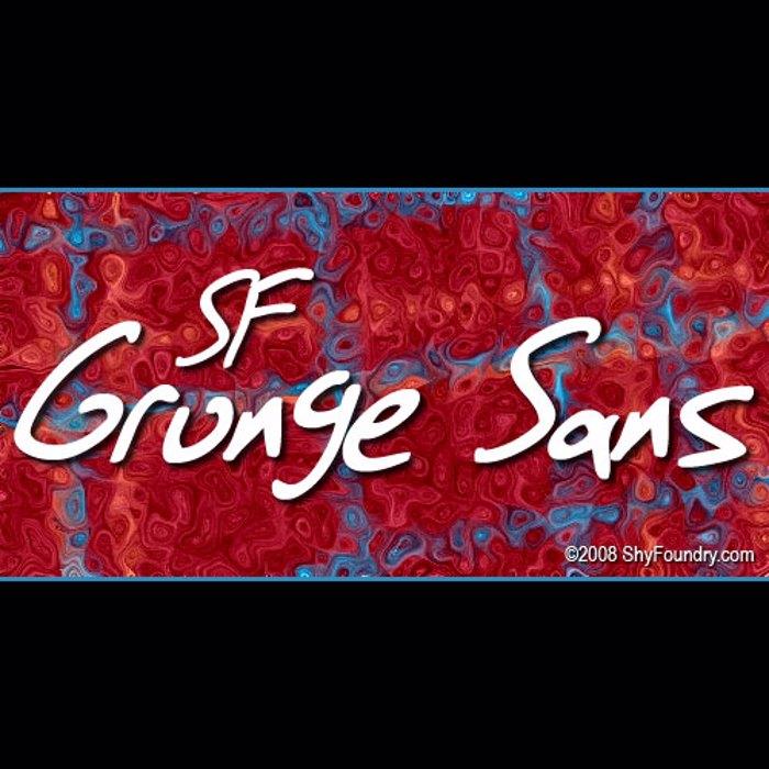 SF Grunge Sans Font poster