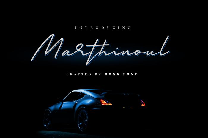 Marthinoul Font poster