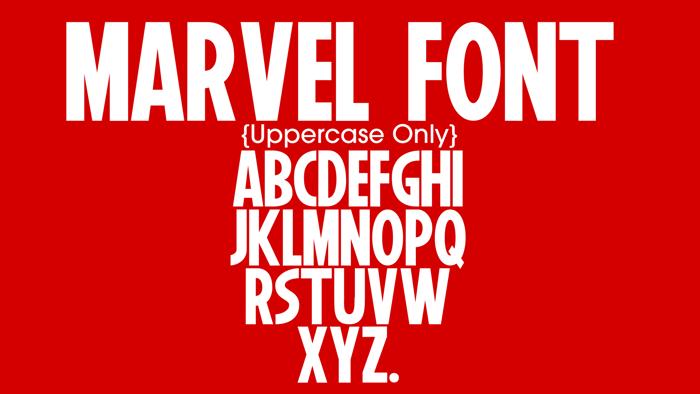 Marvel Font poster