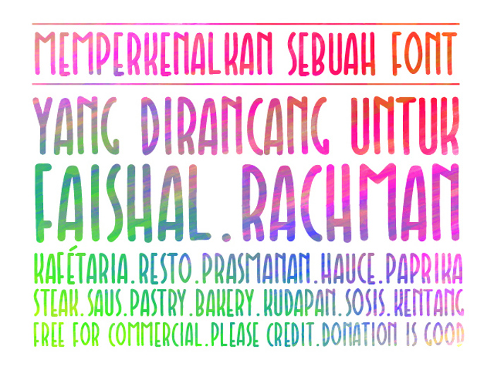Faishal Font poster