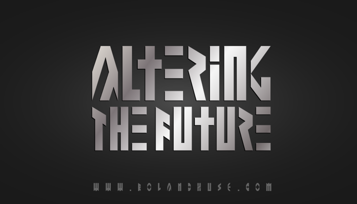 Altering The Future Font poster