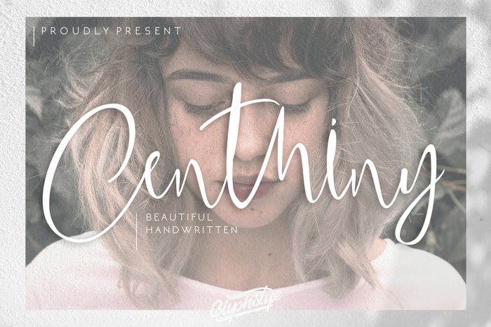 Centhiny Font poster