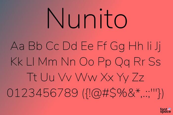 Nunito Font poster