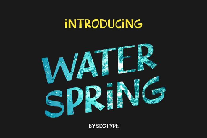 WaterSpring Font poster