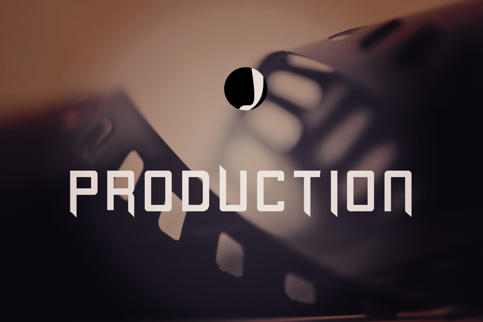 Production Font poster