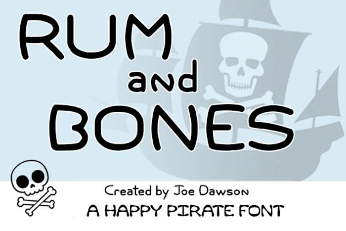 Rum and Bones Font poster