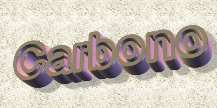 carbono Font poster