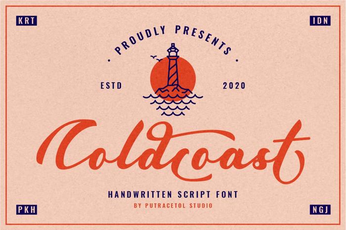 Coldcoast Font poster