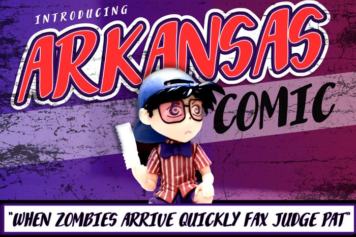 Arkansas Comic Font poster