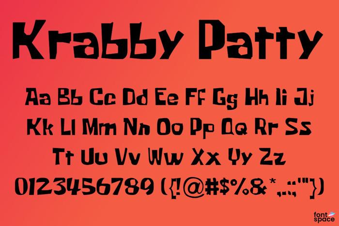 Krabby Patty Font poster