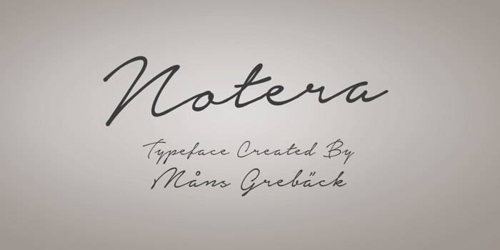 Notera Font poster