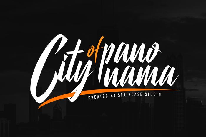 City Of Panonama Font poster