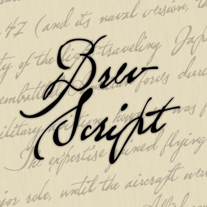 Brev Script Font poster