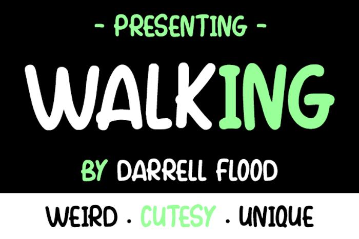 Walking Font poster
