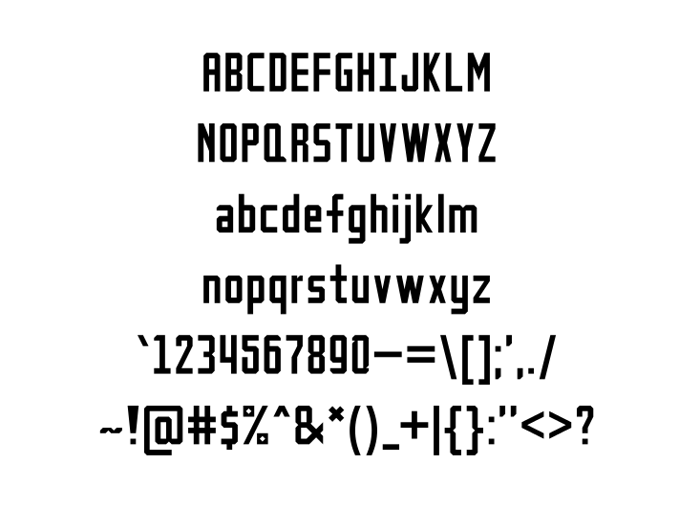 Petak Square Font poster