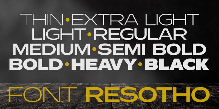 Resotho Extralight Font poster