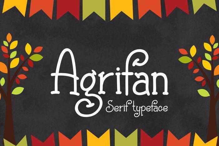Agrifan Font poster