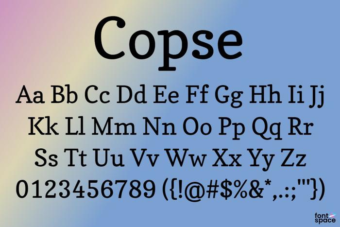 Copse Font poster