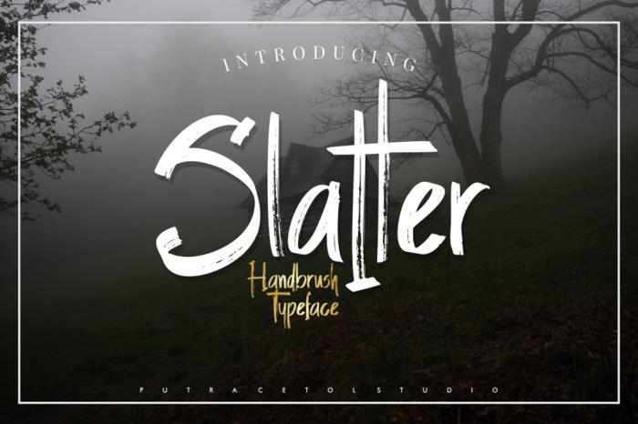 Slatter Font poster