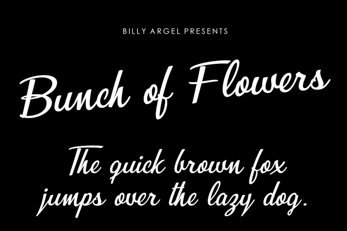 Bunch of Flowers Font poster